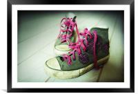 Kathryn's sneakers, Framed Mounted Print