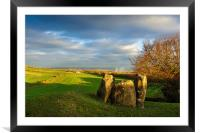 Coldrum Stones, Framed Mounted Print