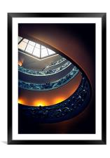 Spiral Looking Up, Framed Mounted Print