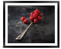 A Spoonful of Raspberries, Framed Mounted Print