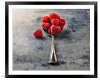 Raspberries, Framed Mounted Print