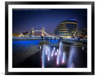 Tower Bridge and City Hall, Framed Mounted Print