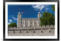 The Tower of London, Framed Mounted Print