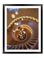 The Spiral Stairs, Framed Mounted Print
