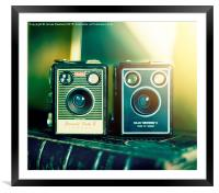 Two Brownies, Framed Mounted Print