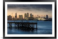 Sunset over the Wharf, Framed Mounted Print