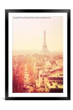 Vintage Paris, Framed Mounted Print