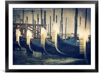 Bobbing Gondolas, Framed Mounted Print