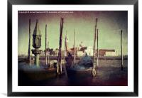 Venice View, Framed Mounted Print