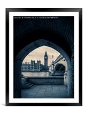 Westminster View, Framed Mounted Print