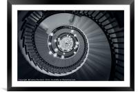 Spiral Staircase, Framed Mounted Print