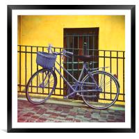 Purple Bike, Framed Mounted Print