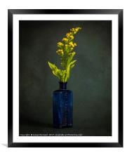 A Bottle with Flower, Framed Mounted Print