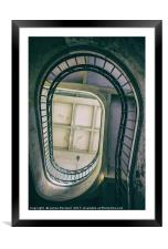 Porto Staircase, Framed Mounted Print