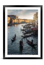 Venetian Gondolas, Framed Mounted Print