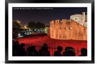 Poppies at the Tower of London, Framed Mounted Print
