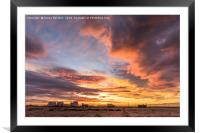 Dungeness Sunset, Framed Mounted Print