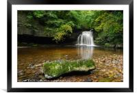 West Burton Waterfall, Framed Mounted Print