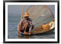 Fisherman, Framed Mounted Print