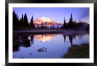 Mountain Sunrise , Framed Mounted Print