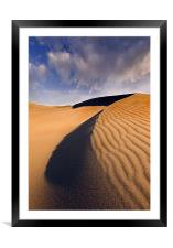 Ripples and Fleece , Framed Mounted Print