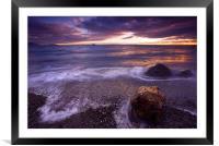 Sunset Frosting , Framed Mounted Print