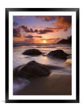Three against the Tide, Framed Mounted Print
