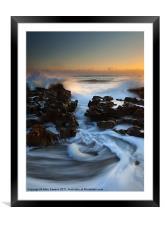 Splitting the Reef, Framed Mounted Print