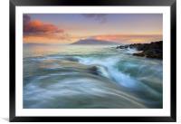 Folding the Sea , Framed Mounted Print