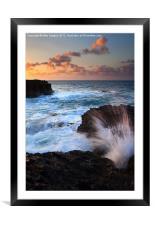 Lumahai Sea Explosion, Framed Mounted Print