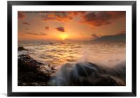 Splash of Paradise, Framed Mounted Print