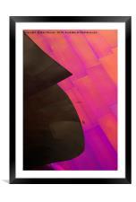 Color Waves, Framed Mounted Print