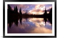 Shrouded in Clouds , Framed Mounted Print