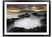 Sunset Boil, Framed Mounted Print