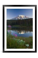 Mountain Morning , Framed Mounted Print