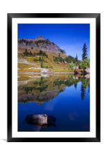Reflections of Fall , Framed Mounted Print