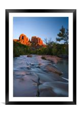 Red Rock Sunset , Framed Mounted Print