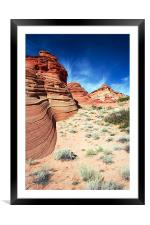 Waves of Stone , Framed Mounted Print