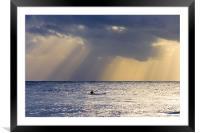 Kayak At Dawn, Framed Mounted Print