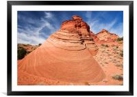 Pyramids of Red , Framed Mounted Print