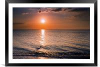 Sunset Fisherman, Framed Mounted Print