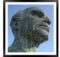 greek head, Framed Mounted Print