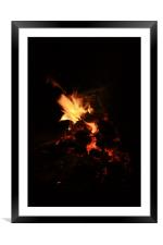 Fire Red portrait, Framed Mounted Print
