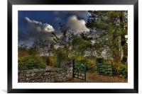 Cottage gate, Framed Mounted Print