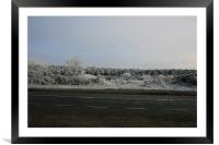 Winter road, Framed Mounted Print