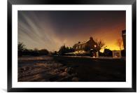 Midnight Village, Framed Mounted Print