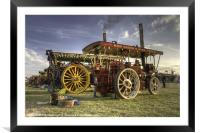 Showmans Engines at the fair, Framed Mounted Print