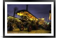 Showmans Engine by night, Framed Mounted Print