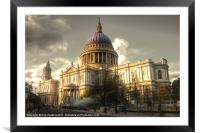 St Pauls Cathedral, Framed Mounted Print