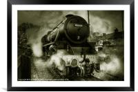 The Black Five (mono), Framed Mounted Print